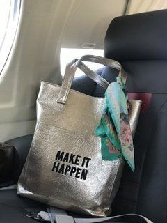 Bolso MAKE IT HAPPEN (Dorado opciones) - PROUD