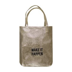 Bolso MAKE IT HAPPEN (Dorado opciones)