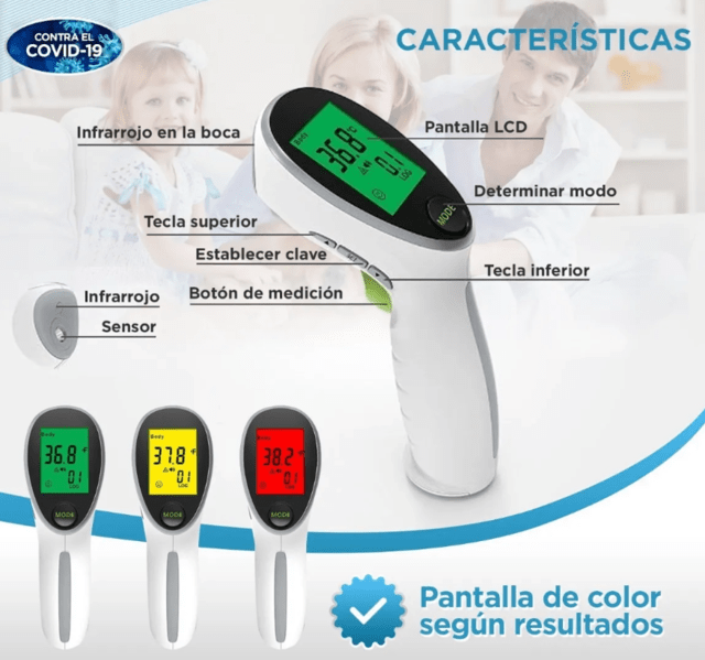 Termometro Infrarrojo Yonker De Uso Clinico ··· infrarrojo termometro termometro portable no contacto infrarrojo termometro medico grade digital termometro infrarrojo with lasor sensor. cosasquequiero