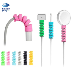 Protector Cable iPhone Android Espiral Silicona Flexible X4
