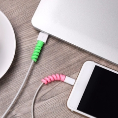 Protector Cable iPhone Android Espiral Silicona Flexible X4 - comprar online