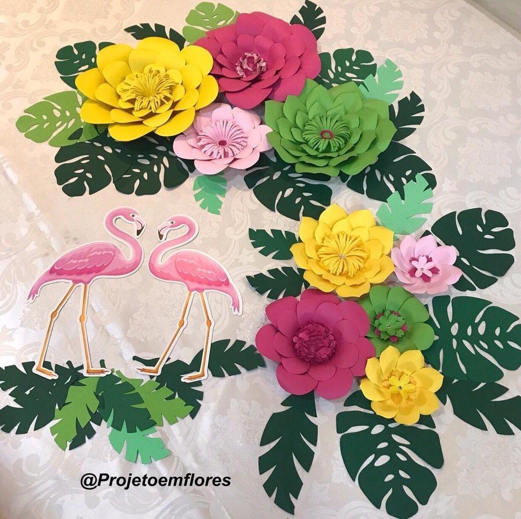 Decoraç u00e3o de festa tropical Projeto em Flores -> Decoração De Flores Festa