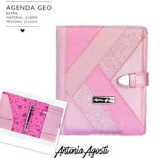 Agenda Negra Geo Barbie Color Rosa con Repuesto 2020 de Regalo/ Antonia Agosti