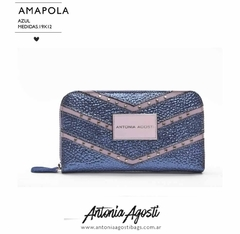 Billetera Amapola Azul