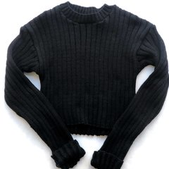 Crop Sweater Negro en internet