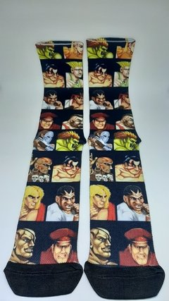 Meia cano alto - Street fighter personagens