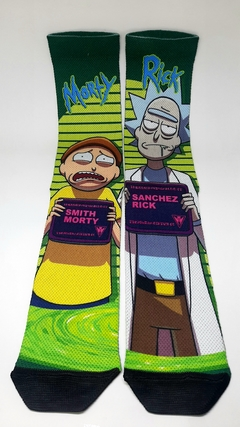 Meia cano alto - Rick and Morty