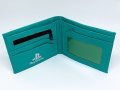 Carteira Playstation - Verde - Bolso Geek