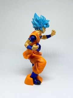 Boneco Dragon Ball - Goku Super Sayajin Blue - Bolso Geek
