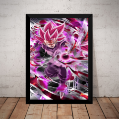 Quadro Incrivel Arte Goku Mal Black Dragon Ball 42x29cm