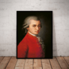 Quadro decorativo Grandes compositores Mozart 42x29cm