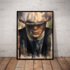 Quadro Decorativo pintura oleo Peak Blinders Thomas Shelby 42x29cm