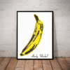 Lindo Quadro decorativo Pop Art Andy Warhol banana grande 42x29cm