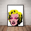 Lindo quadro decorativo pop art Andy Warhol Marilyn Monroe 42x29cm