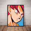Lindo quadro decorativo pop art dragon ball goku 42x29