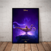 Lindo quadro decorativo cartaz aladdin disney 2019 42x29cm