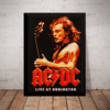 Poster Com Moldura Acdc Live At Donington Rock Quadro
