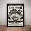 Quadro Retro Muhammad Ali Vs Joe Frazier Cartaz Com Moldura