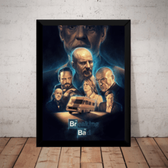 Quadro Decorativo Breaking Bad Arte Poster Com Moldura