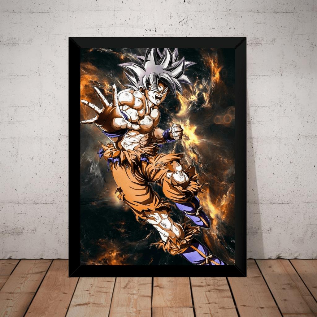 Quadro Arte Dragon Ball Super Goku Instinto Superior