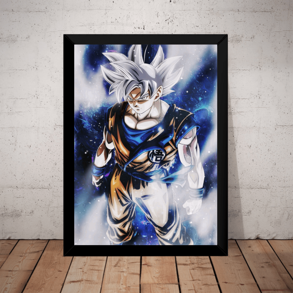 Quadro Dragon Ball Super Arte Goku Instinto Superior 2
