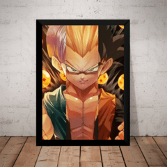 Quadro Arte Dragon Ball Z Fusão Goten E Trunks Gotenks