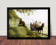 Quadro Decorativo John Howe Arte Fantasy Gandalf Hobbit