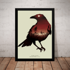 Quadro Game Of Thrones Simplista Corvo Poster Moldurado