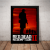 Quadro Red Dead Redemption 2 Game Arte Poster Com Moldura