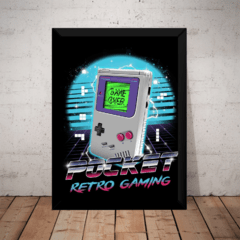 Quadro Retro Mini Game Boy Nintendo Arte Moldurada