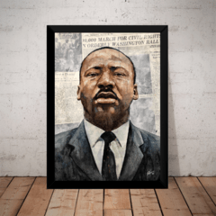 Quadro Decorativo Martin Luther King Arte Moldurada