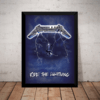Quadro Metallica Ride The Lightning Poster Moldura 44x32cm