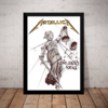 Quadro Metallica And Justice For All Poster Moldura 44x32cm