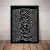 Quadro Joy Division Unknown Pleasures Poster Moldurado