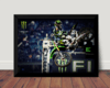 Quadro Mx Monster Freestyle Motocross Poster Com Moldura