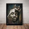 Quadro Rap Hip Hop Arte Notorious Big & Tupac 2pac