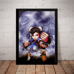Quadro Street Fighter Chun-li Ryu Vs Ken Gamer Arte