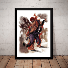 Quadro Decorativo Game Arte Street Fighter Akuma