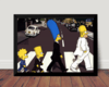 Quadro Os Simpsons Arte The Beatles Poster Moldurado