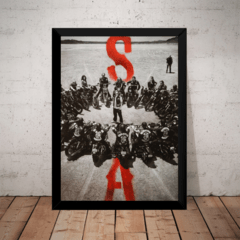 Quadro Serie Sons Of Anarchy S.o.a Poster Moldurado