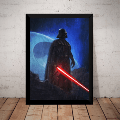 Quadro Decorativo Stars Wars Dark Side Darth Vader Arte