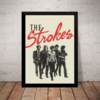 Quadro Decorativo Retro Banda The Strokes Rock Arte