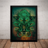 Quadro Decorativo Horror Cthulhu Lovecraft Terror Artistico