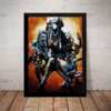 Quadro Decorativo Black Kamen Rider Live Action Arte 42x29cm