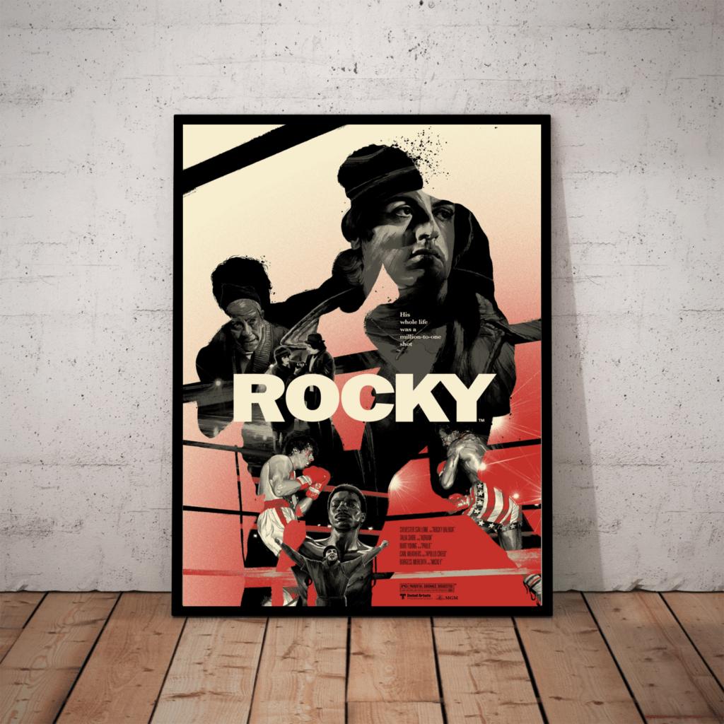 Quadro Decorativo Filme Rocky Balboa Boxe Arte