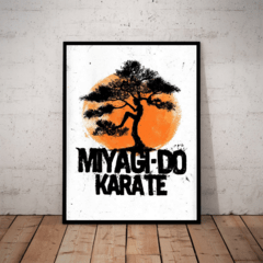 Quadro Decorativo Karate Kid Miyagi Bonsai Arte