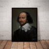 Quadro Decorativo William Shakespeare Artistico