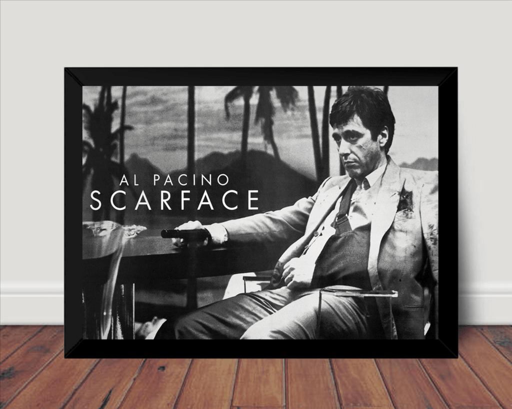 Quadro Filme Scarface Al Pacino Foto Poster Moldurado
