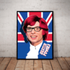 Quadro Decorativo Austin Powers Arte Poster Moldurado