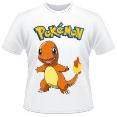 63b1deaa4f Camiseta Infantil Pokemon Charmander Anime Desenho Camisa